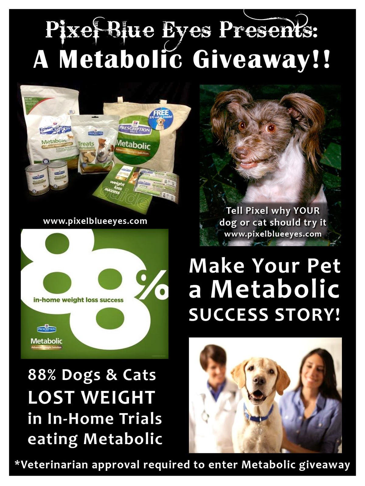 Pixel Blue Eyes Is Hosting A Giveaway Sponsored By Hill S Pet Must Get Vet Approval To Enter With Images Pets Food Animals Dog Hacks