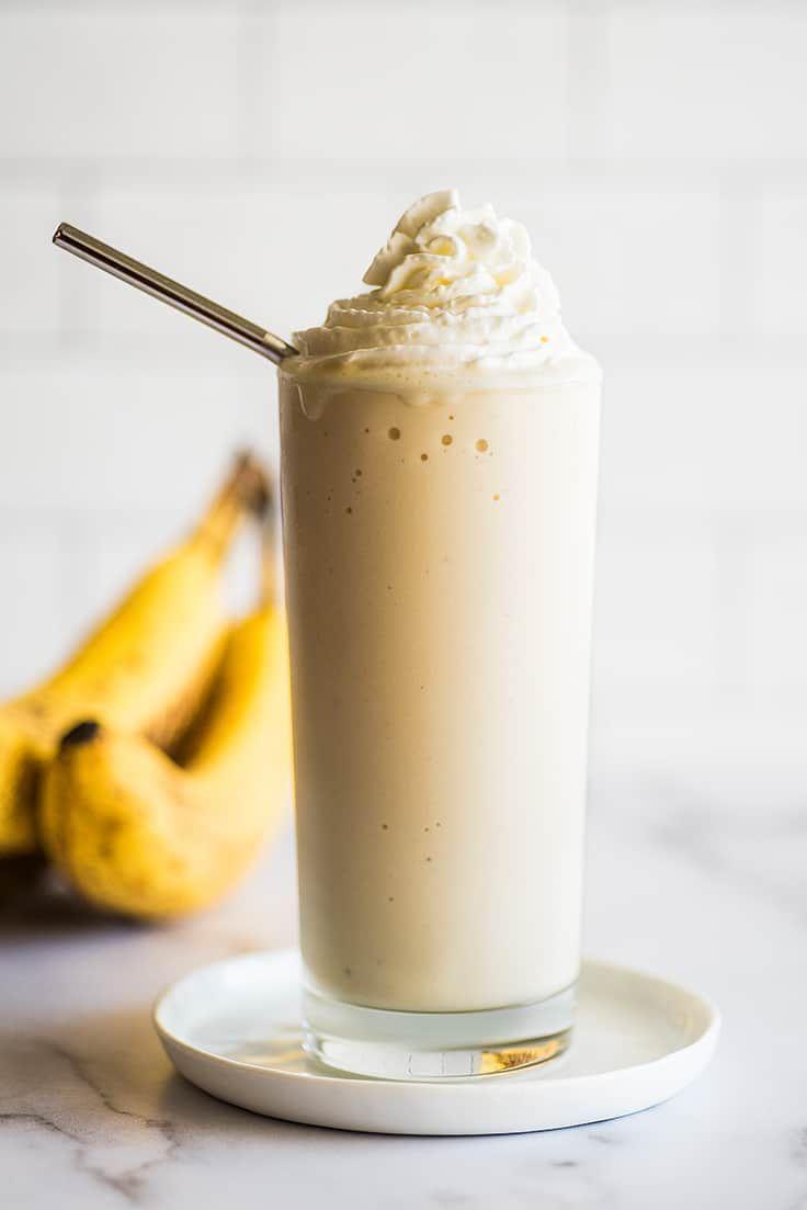 Creamy and thick banana milkshake banana milkshake