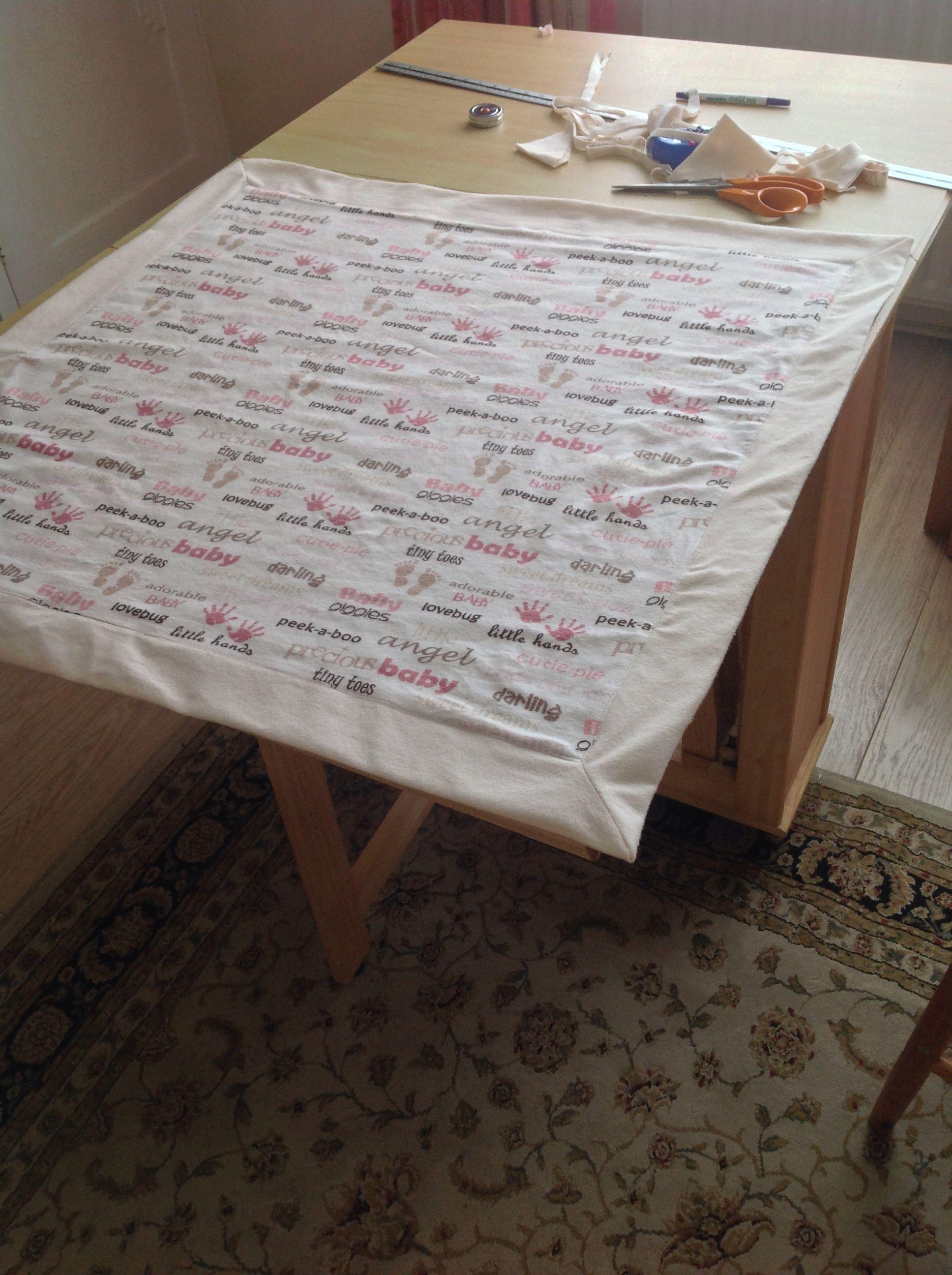 Receiving Room Interior Design: Receiving Blankets, Pallet Table, Decor