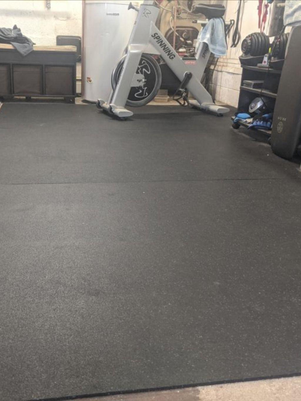 Home Basement Gym Rubber Flooring Rolls 1 4 Inch 4x10 Ft Colors Garage Gym Flooring Gym Flooring Rubber Rubber Flooring