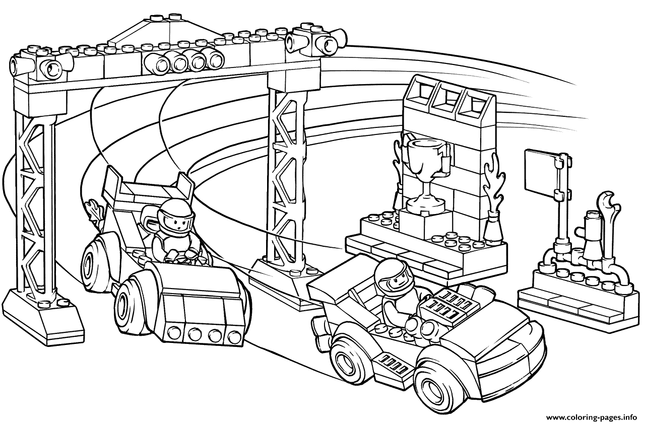 Print Lego Junior Race Car Competition Coloring Pages Race Car Coloring Pages Lego Coloring Pages Coloring Pages