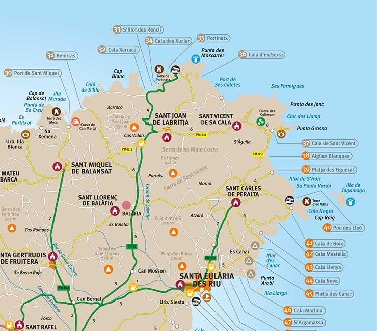 Ibiza Karte Playa D En Bossa.Ibiza Strände Großer überblick Aller Strandtypen Mit Karte