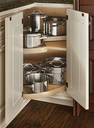Rotating Shelves Wood Mode Fine Custom Cabinetry Kitchen Cabinetry Design Kitchen Design Corner Kitchen Cabinet