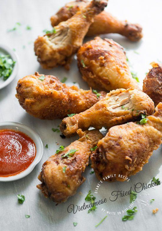 Vietnamese Fried Chicken Recipe Diane's Family | White On Rice Couple