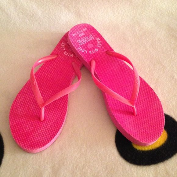 fd4a92aab02 SALE VS PINK Flip Flops PINK Victoria s Secret flip flops. Reposh. Like new.