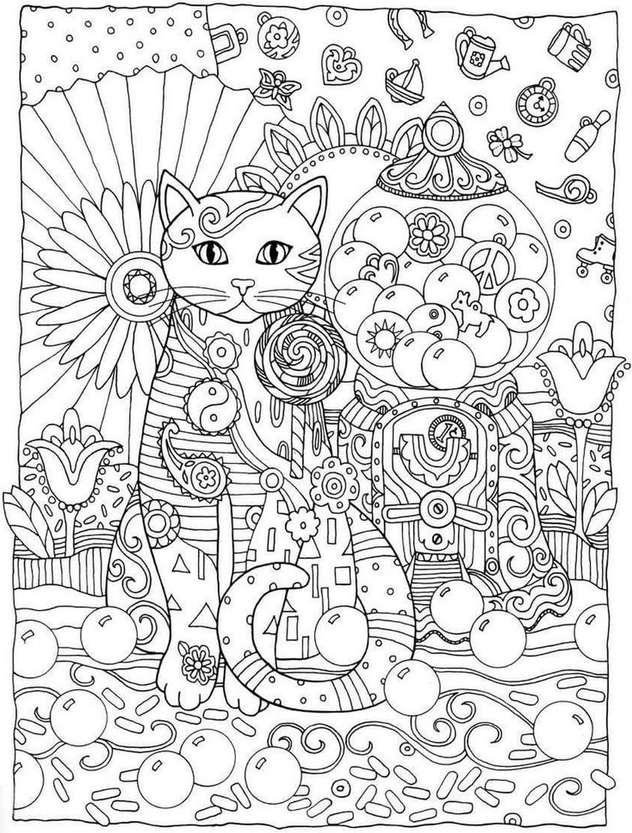 Cats Creative Cats Coloring Book By