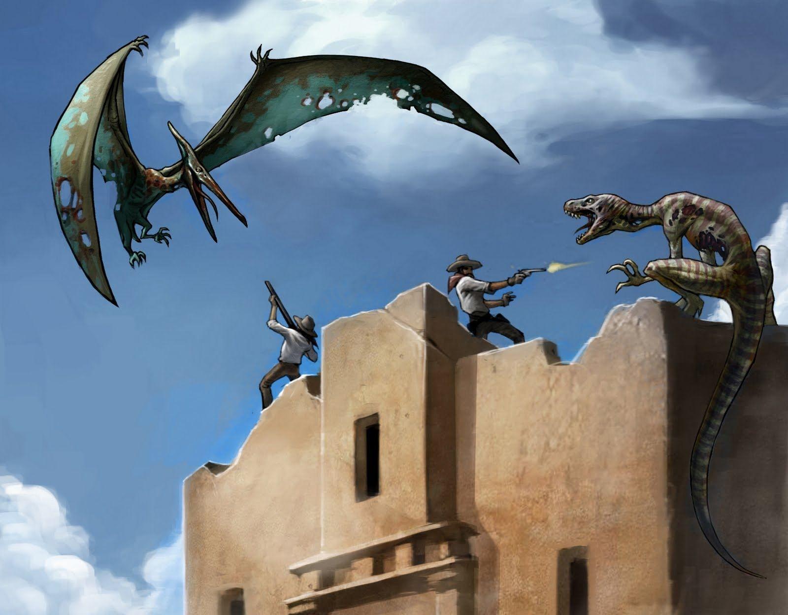 Cowboys vs Dinosaurs.. at the Alamo! Mysterious universe