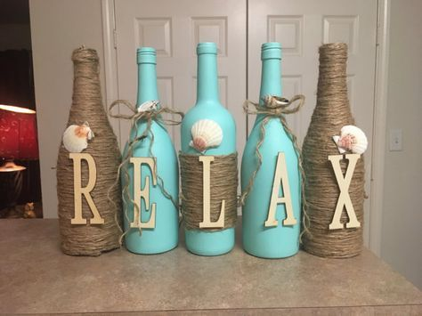 Wine Bottle Decorating Ideas Wine Bottle Decorlovetammyscrafts On Etsy  Home Decor Ideas