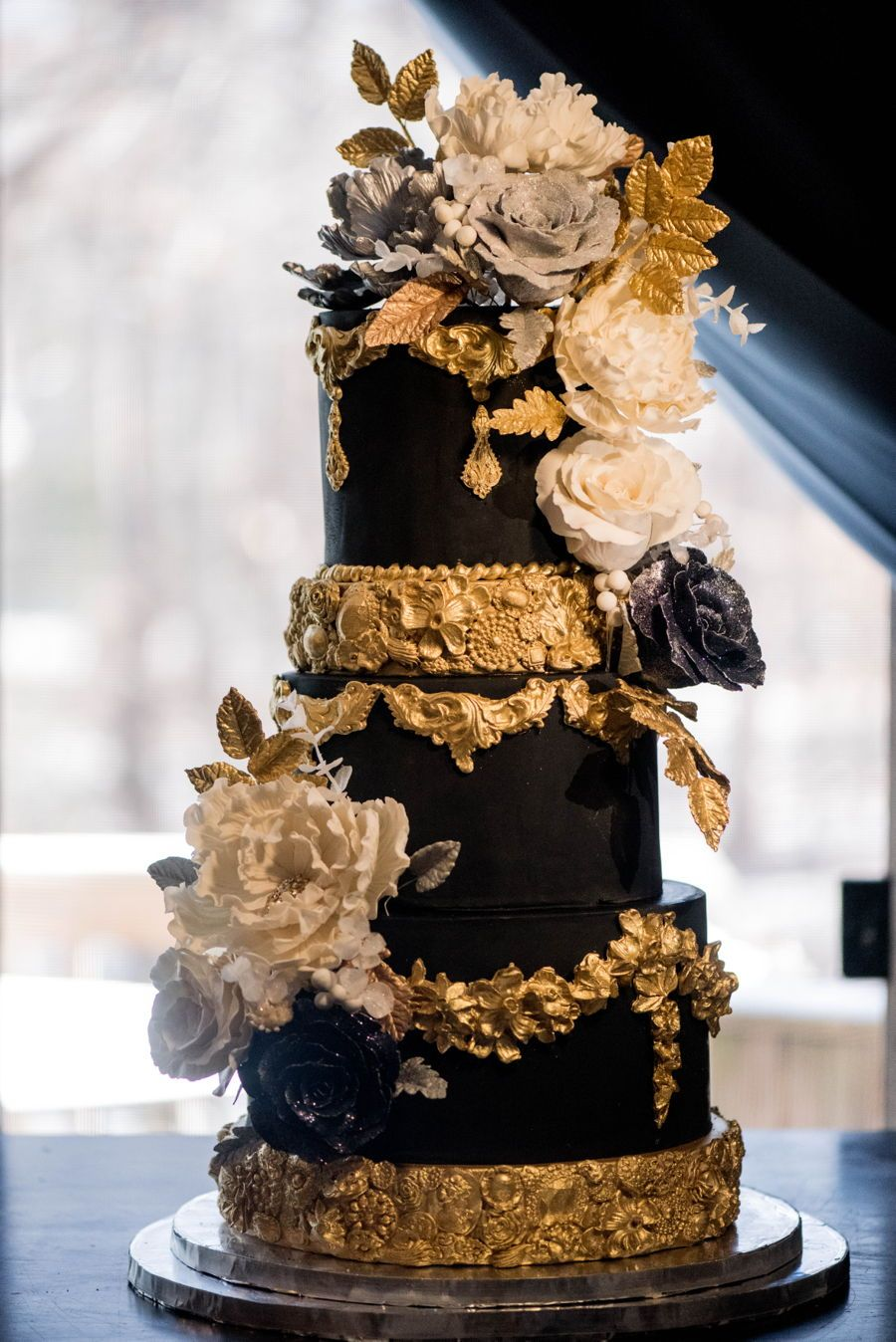 Black Is Back A 5 Tier Birthday Cake I Made For Luxury Washington DC Event This Weekend The Features Elegant Bas Relief Tiers