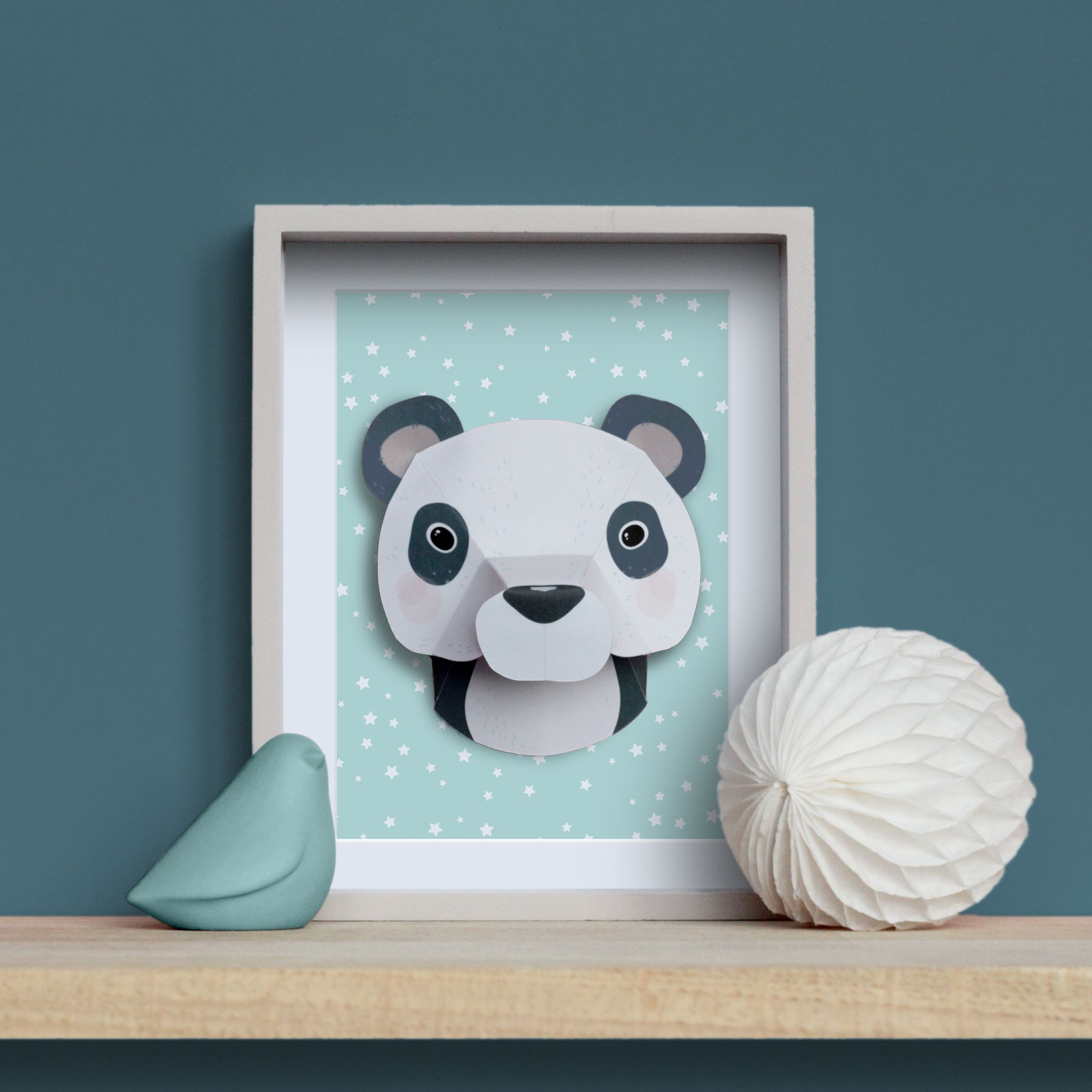 troph e animaux en papier panda diy paper printable pinterest. Black Bedroom Furniture Sets. Home Design Ideas