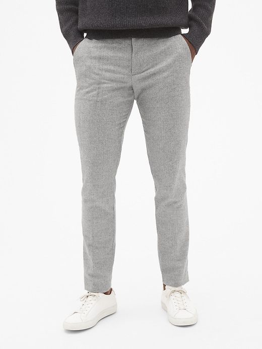 34841f7e57e71c Wool Pants in Slim Fit with GapFlex in 2019 | Products | Wool pants ...