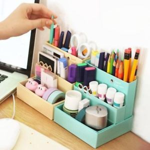 DIY Paper Board Storage Box Desk Decor Stationery Makeup Cosmetic Case Organizer is part of Organization DIY Boxes -