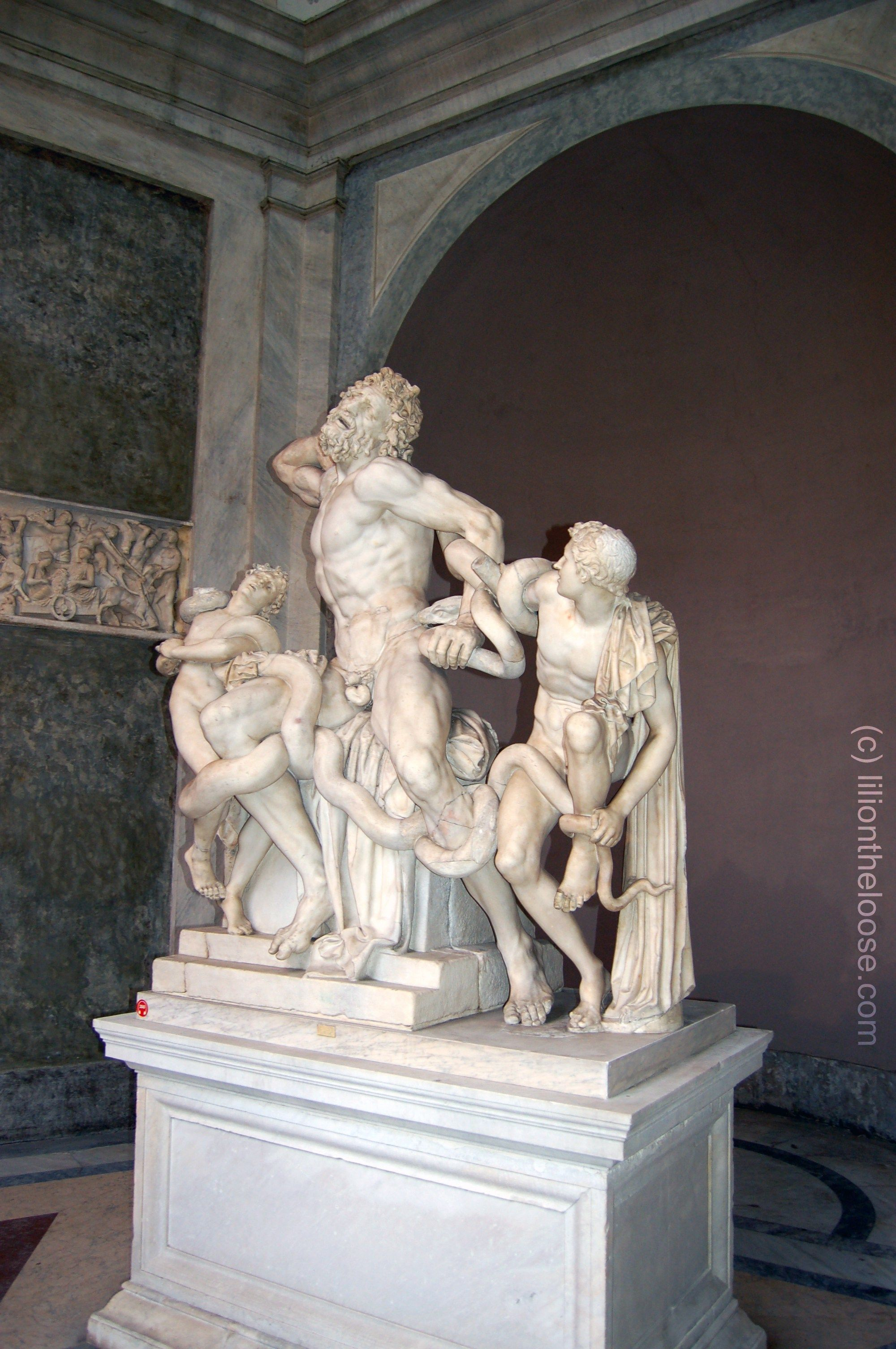 Laocoön and His Sons at the Vatican Museum in Rome, Italy