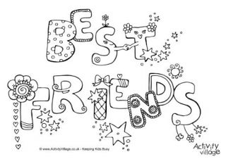 Best Friends Colouring Page 460 Jpg 320 226 Valentine Coloring