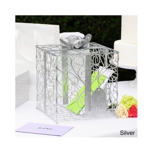 Keep Your Gift Cards Organized In Style With This Unique Reception Card Holder Crafted Of Metal Ornately Designed Money Features A