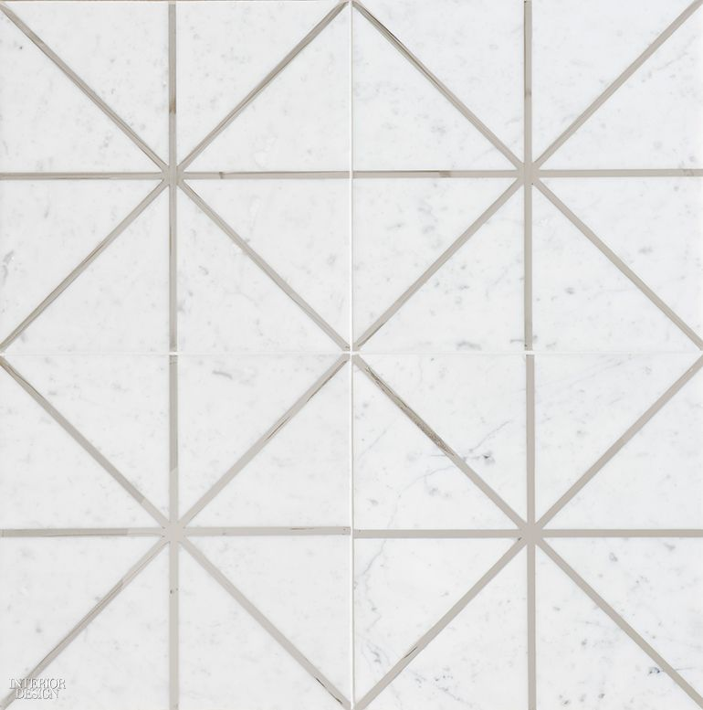 Tile In Marble And Stainless Steel