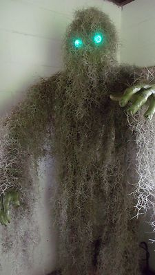 moss monster 7 tall halloween prop glowing eyes yard decoration party ebay