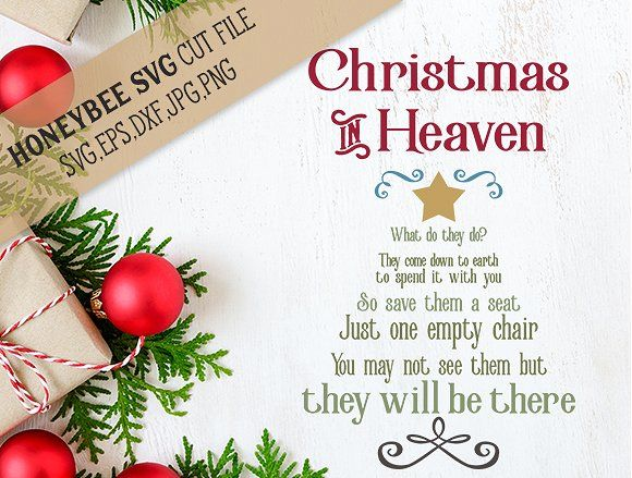 Christmas In Heaven Poem Svg.Christmas In Heaven Tree By Honeybeesvg On Creativemarket