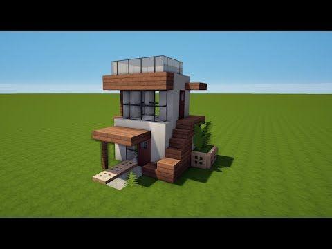 7x8 Kleines Modernes Minecraft Haus Bauen Tutorial Haus 61