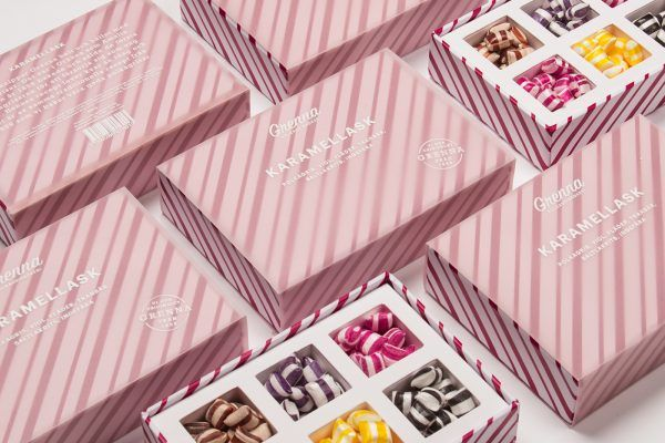 Candy Cane Packaging Design And The History Of Swedish Polkagrisar With Images Candy Packaging Creative Packaging Design Packaging Design