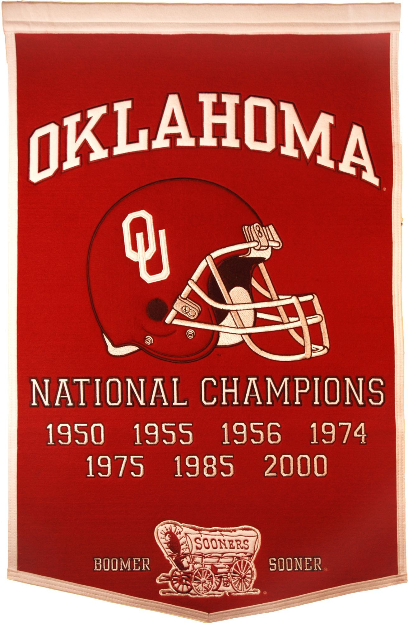 Oklahoma Sooners Football National Champions Banner ...