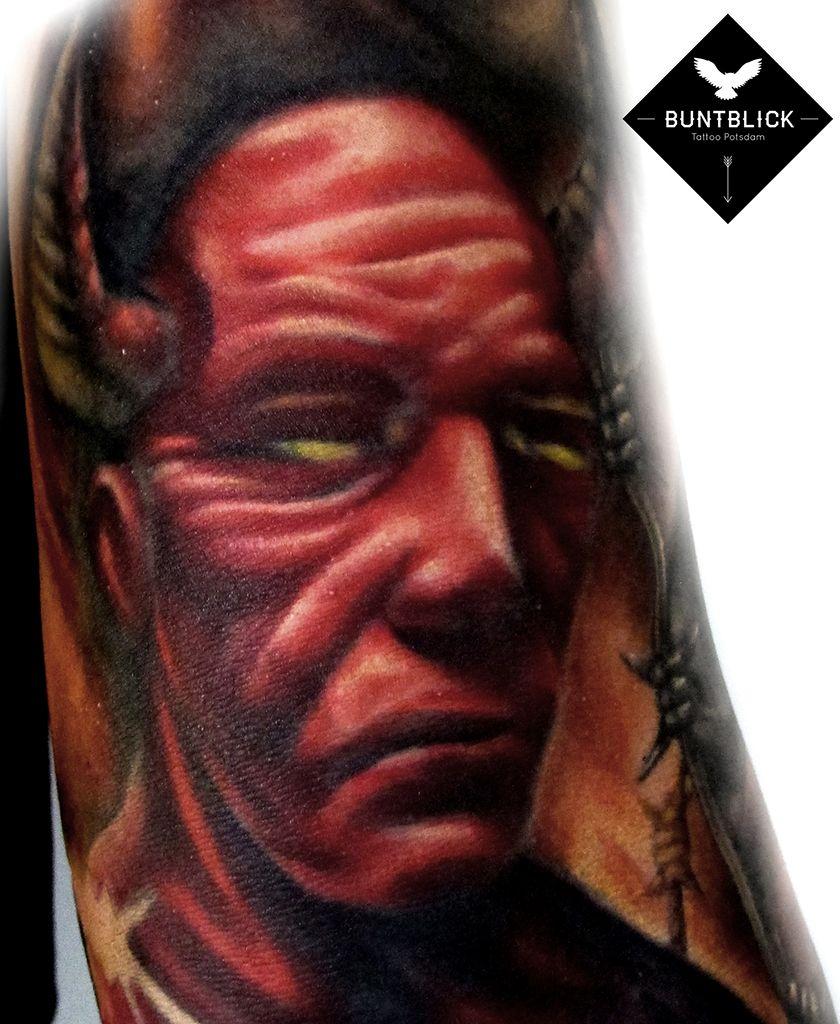 Devil Tattoo (realistic) - http://www.buntblick-tattoo.de/