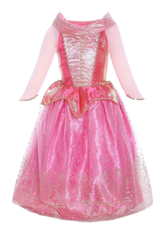 5ae314658cd Katara - Déguisement Disney pour filles - la Belle au Bois Dormant robe d  Aurore pour Enfant Tenue de Princesse de Contes de Fées Rose en Tulle avec  ...