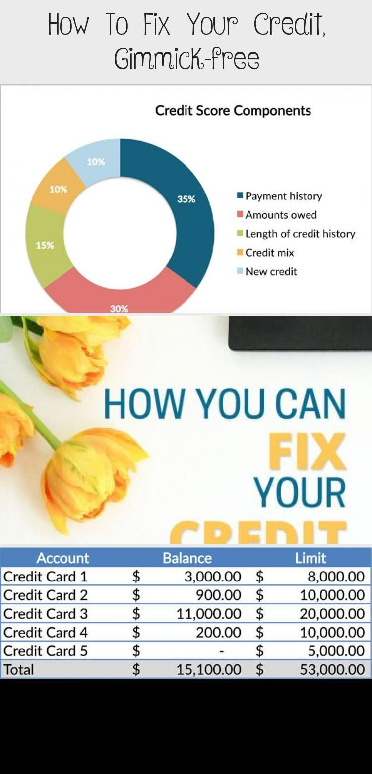 How To Fix Your Credit Gimmick Free Credit Score Fix Your Credit Credit Card Infographic Credit Score