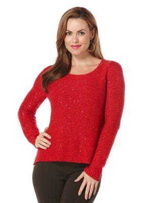 Rafaella  Sequin Sweater