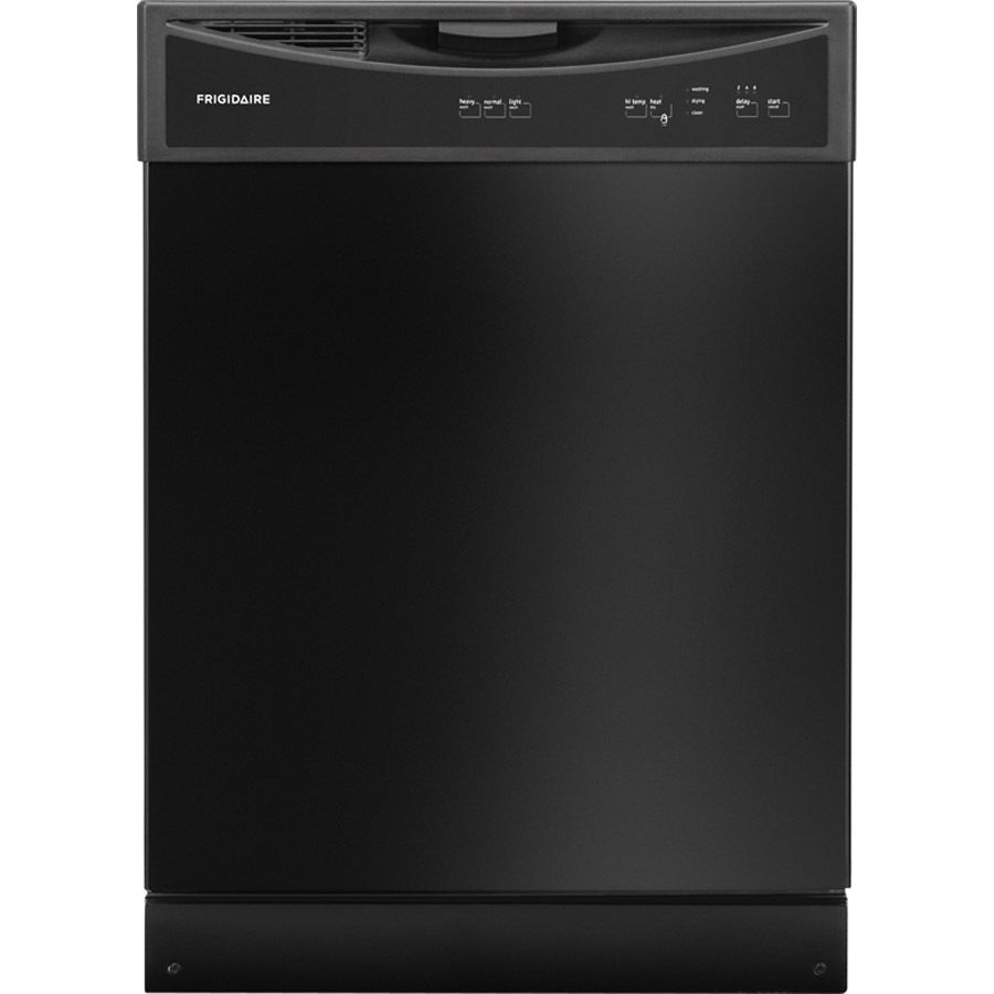 Frigidaire 60 Decibel Front Control 24 In Built In Dishwasher Black Lowes Com Built In Dishwasher Black Dishwasher Frigidaire