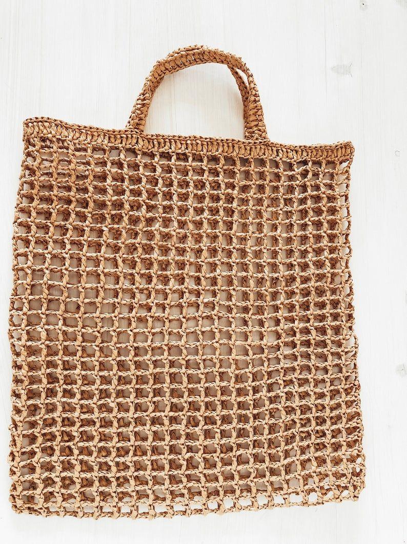 Photo of Sacchetto di paglia sacchetto di rafia Boho rafia borsa | Etsy