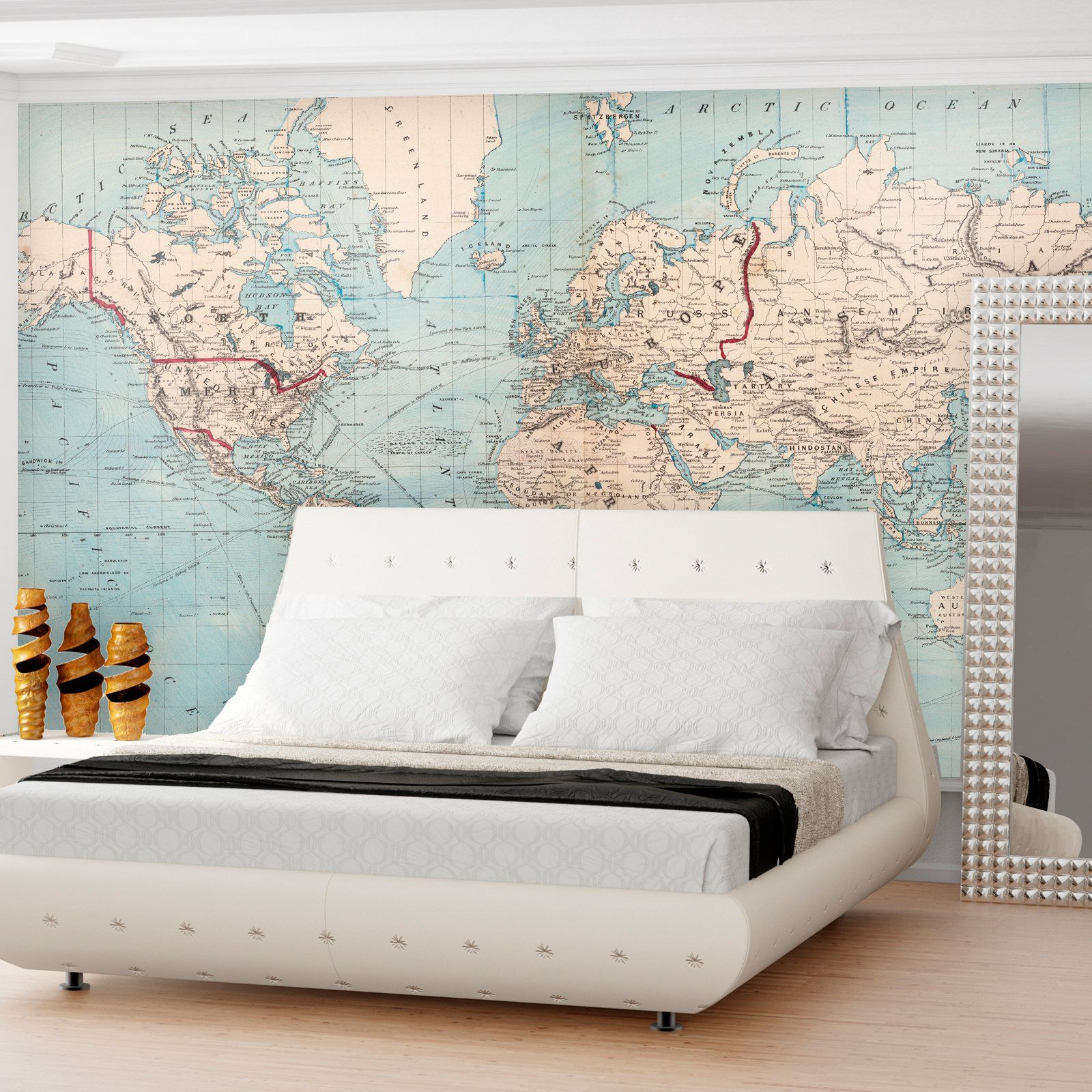 Have to have it swag paper world map 1876 shipping routes self swag paper world map 1876 shipping routes self adhesive wallpaper gumiabroncs Gallery