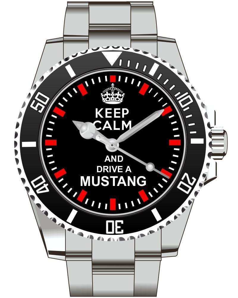 Uhr 1476 Keep calm and drive a MUSTANG Für Ford Mustang