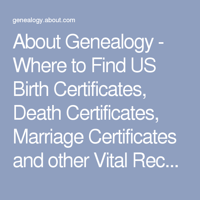 US Vital Records: Where To Get Birth, Death And Marriage