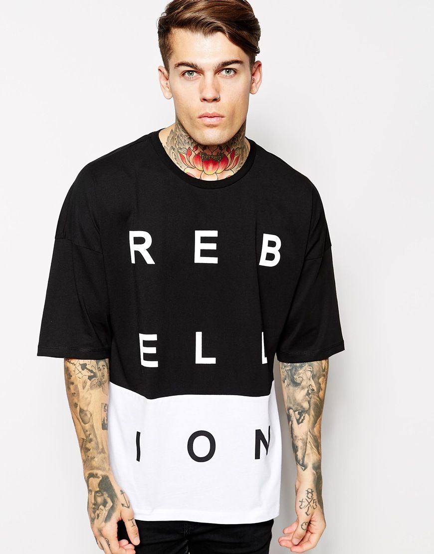 REBELLION - Graphic Tee - Black and white