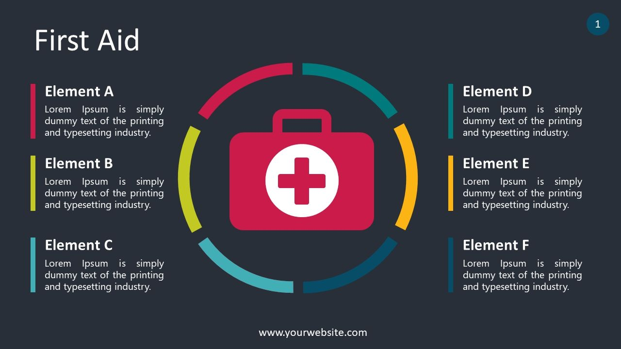 Free First Aid Techniques Powerpoint Template Powerpoint Templates Safety Infographic Infographic Health