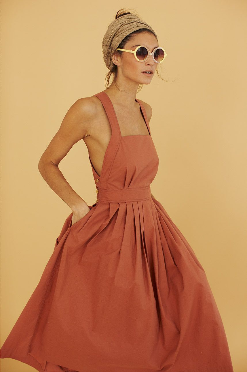 4e85251219e7 La parfaite robe bain de soleil à bretelles Rust Orange Dress