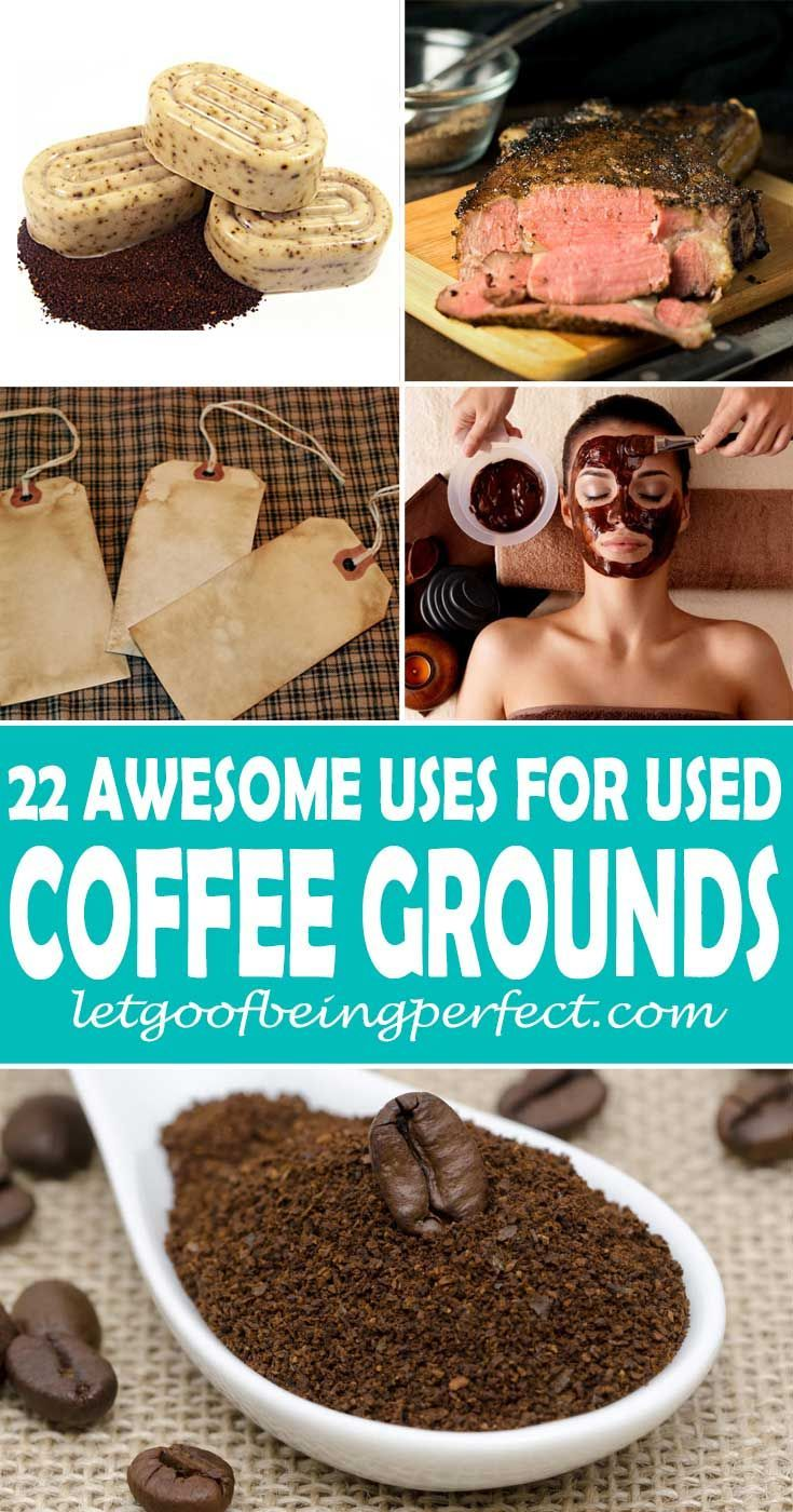 22 Uses For Used Coffee Grounds Uses For Coffee Grounds Coffee Grounds Beauty Coffee Grounds
