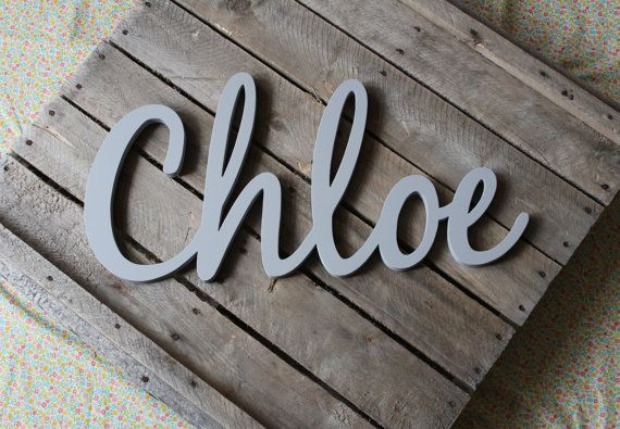 Nursery Wall Art, Baby Name Art, Nursery Decor, Name Wall Decal ...