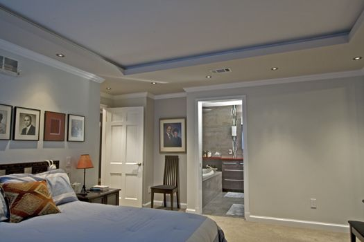 A row of low voltage recessed lights mark the way to this master a row of low voltage recessed lights mark the way to this master suites dressing room mozeypictures Image collections