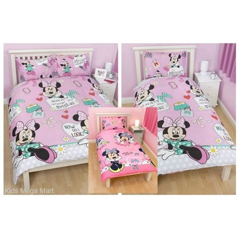 Minnie Mouse Makeover Single Or Double Doona And Pillowcase Set