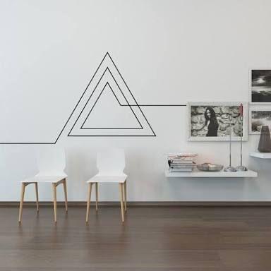 Resultado de imagen para cidade na parede com fita isolante cinta - faire sa peinture maison