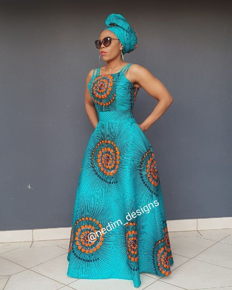 Dress Designs: African Print Maxi Dress @ Nedim_designs +27829652653
