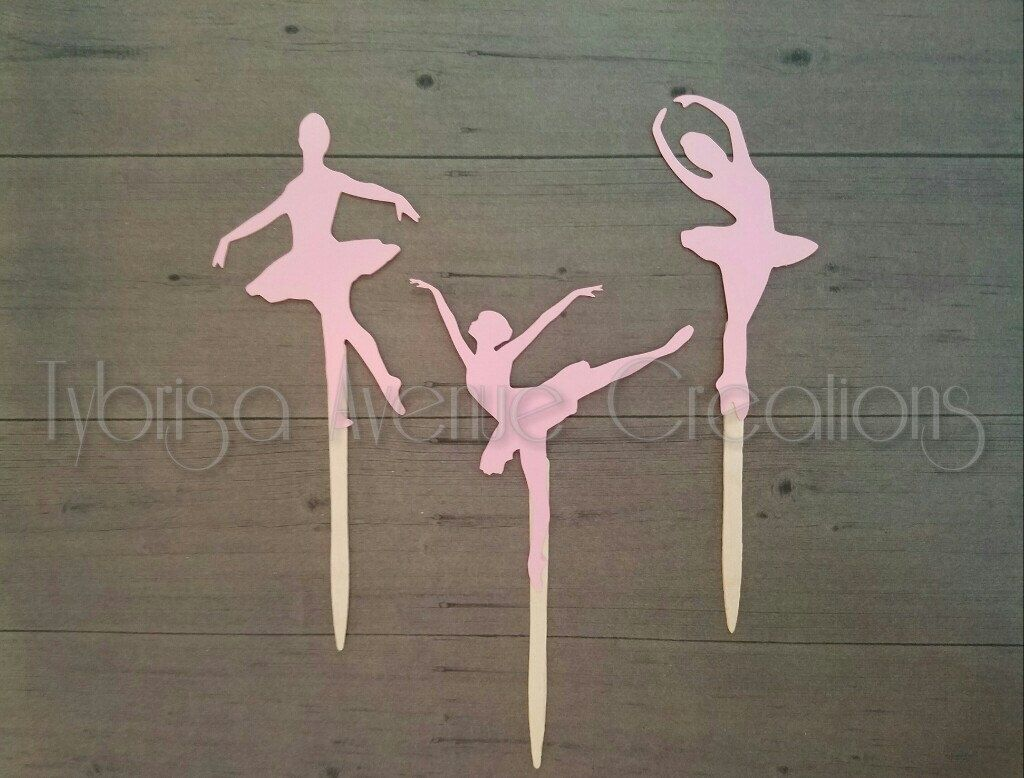 12 Ballerina Cupcake Toppers - Ballerina Birthday Cupcake Toppers - Ballerina Baby Shower Cupcake Toppers - Ballerina Party Decorations by TybrisaAveCreations on Etsy https://www.etsy.com/listing/490239442/12-ballerina-cupcake-toppers-ballerina