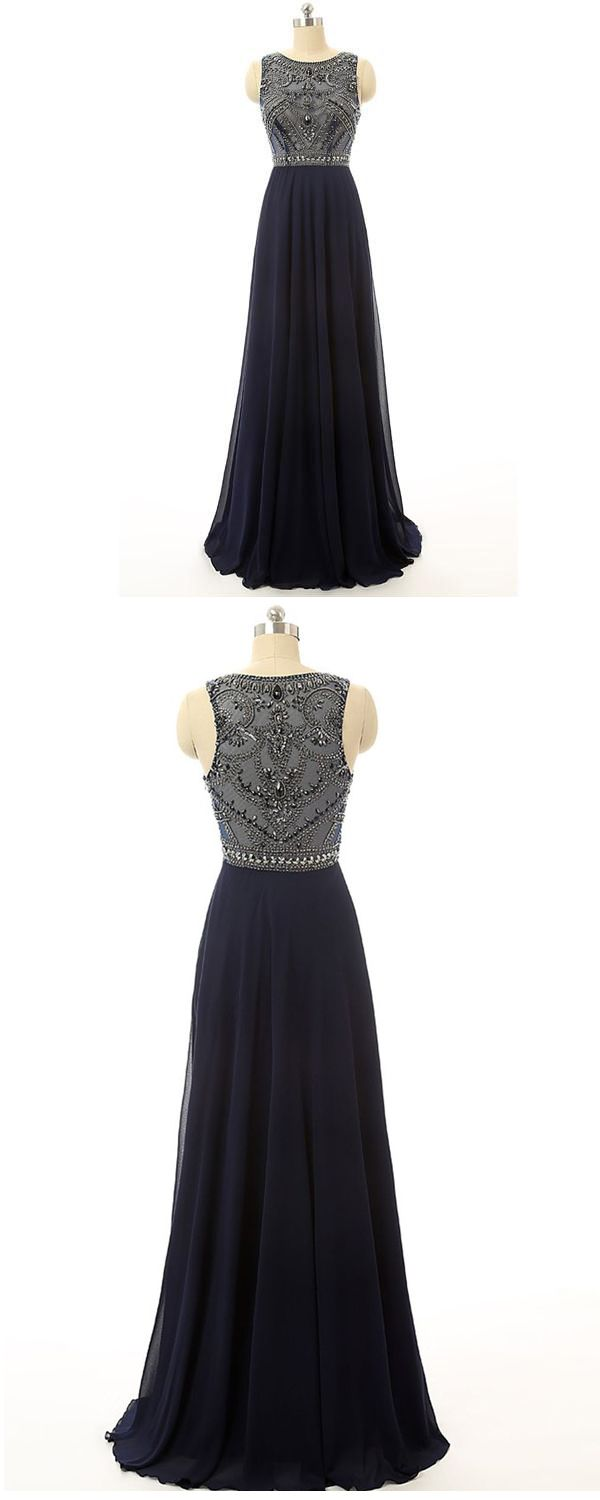 Navy prom dresseslong prom dressescharming prom dress prom