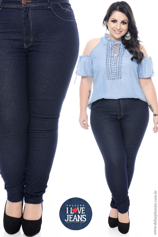 3b0152815 Calça Jeans Plus Size - Coleção I Love Jeans - www.daluzplussize.com ...