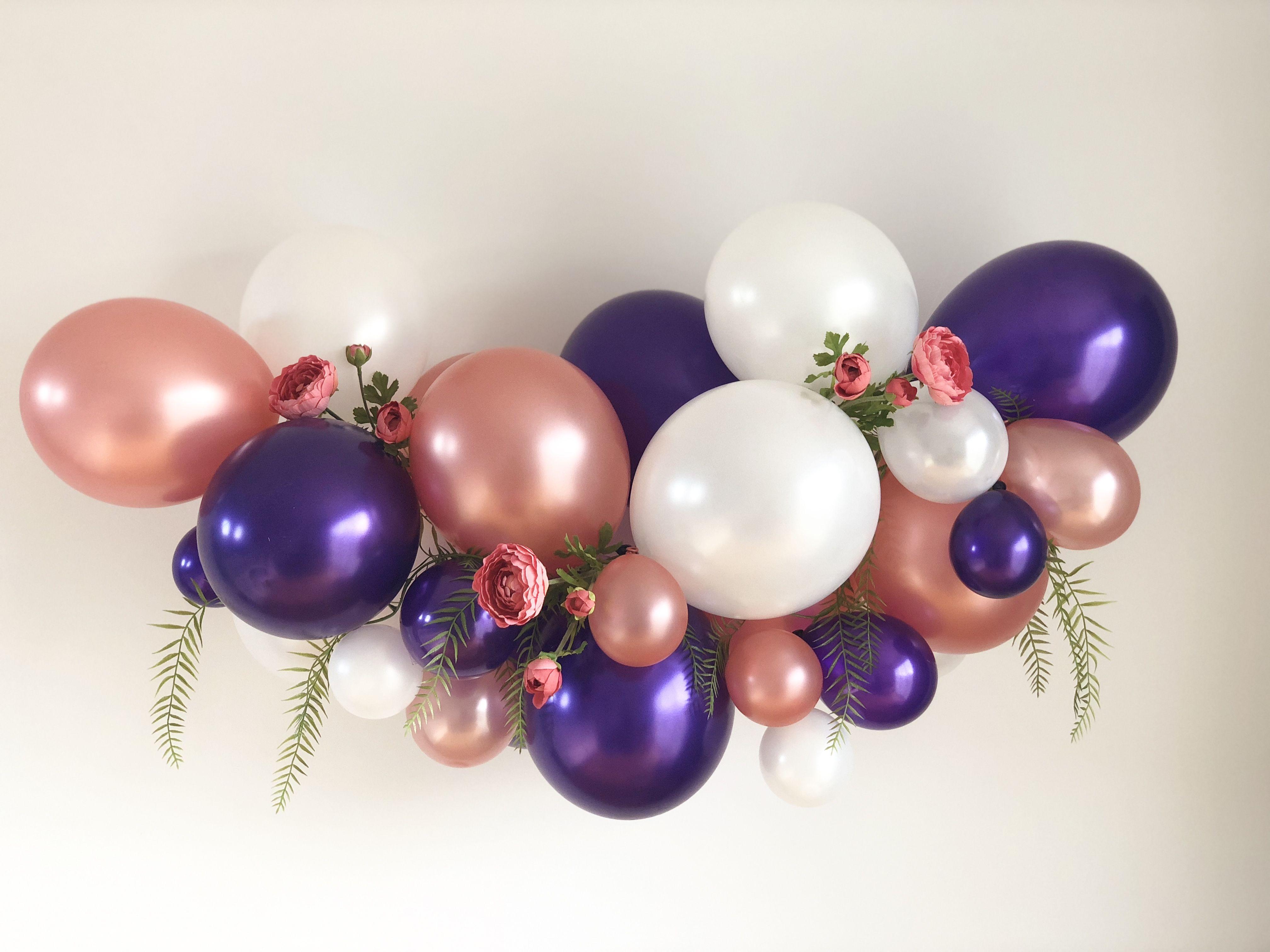 5 foot lavender blush pink rose gold baby shower bridal shower birthday party bachelorette party wedding decor Amethyst Tassel Garland