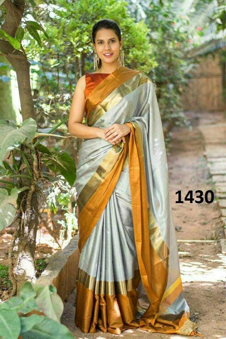 69bbe9477d085 Zarna silk saree digital printed with blouse
