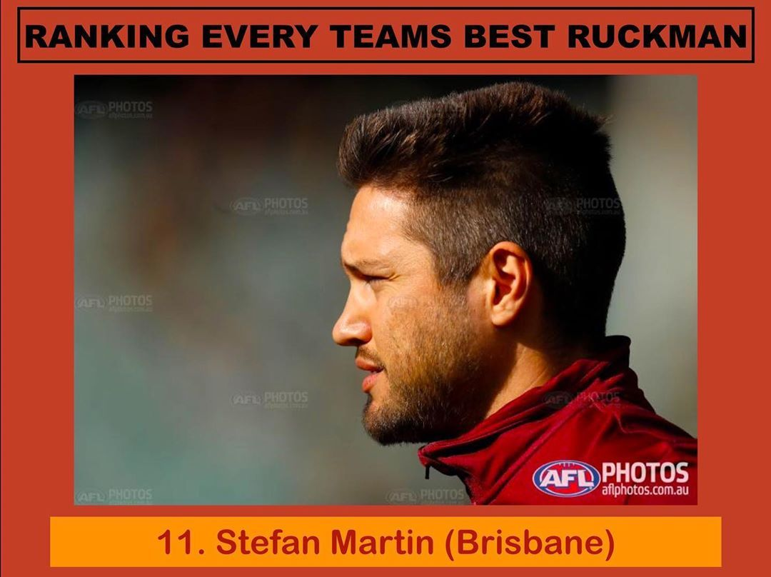 The 11th best Ruckman in the league in my opinion is Stefan Martin