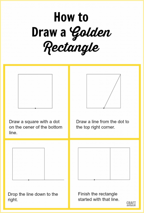 How to draw a Golden rectangle and all about the golden ratio in art architecture and photography #goldenrectangle #goldenmean #goldenratio #fibonacci #sacredarchitecture #educational #architecture #high #schools